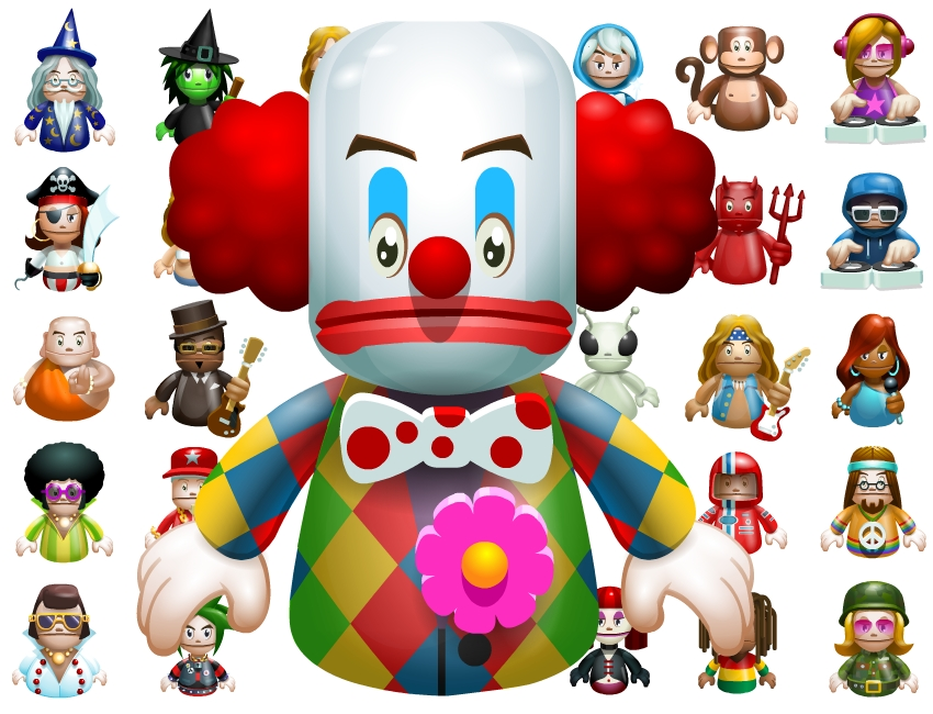 Omniphone 3d clown art