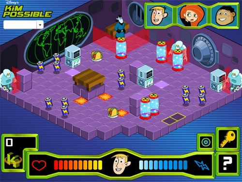 disney kim possible game illustrator
