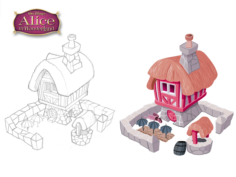 disney_puzzle_kingdom_alice_farm_pencil_vector_sketches