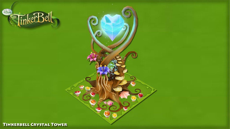 disney_puzzle_kingdom_tinkerbell_crystal_tower_render