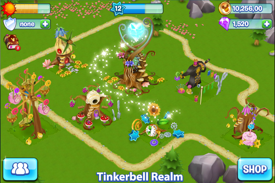 disney_puzzle_kingdom_tinkerbell_in_game