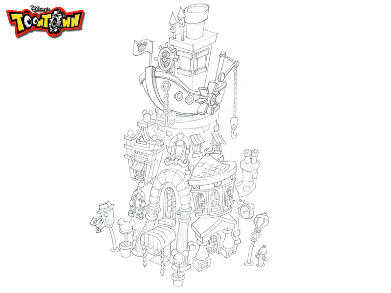 disney_puzzle_kingdom_toontown_crystal_tower_sketches