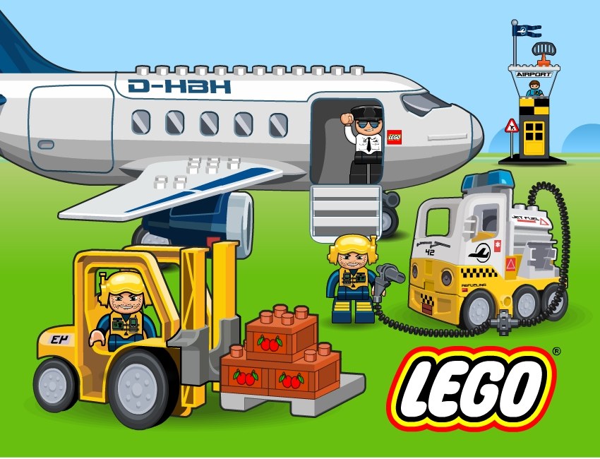 lego airport illustration artwork