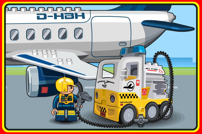 lego airport refuel