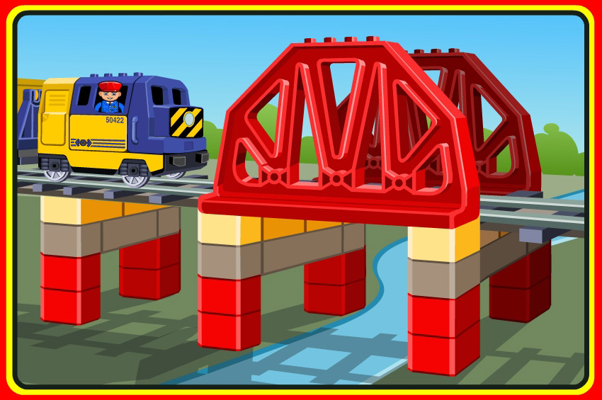 lego trains bridge illustrations