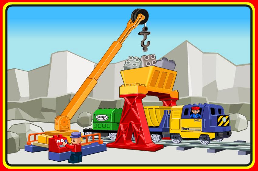 lego trains crane image