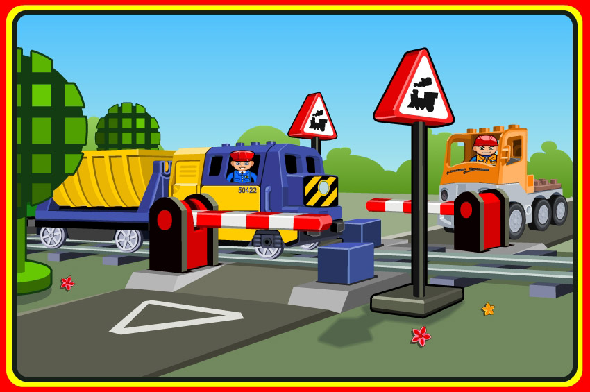 lego trains crossing graphics