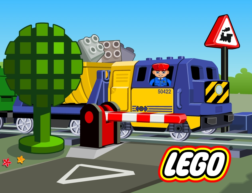 lego trains new illustration artwork