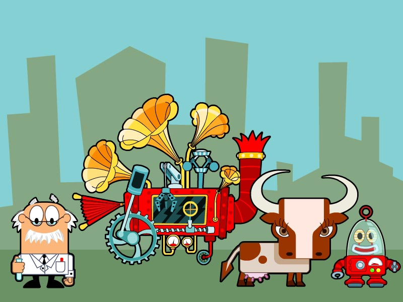 proffesor_cow_robot_sound_machine