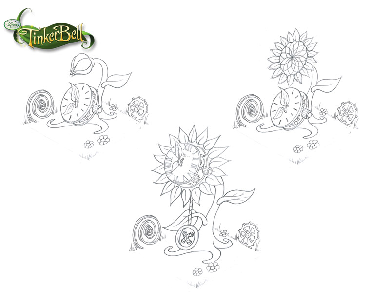 puzzle_kingdom_tinkerbell_clock_sketches
